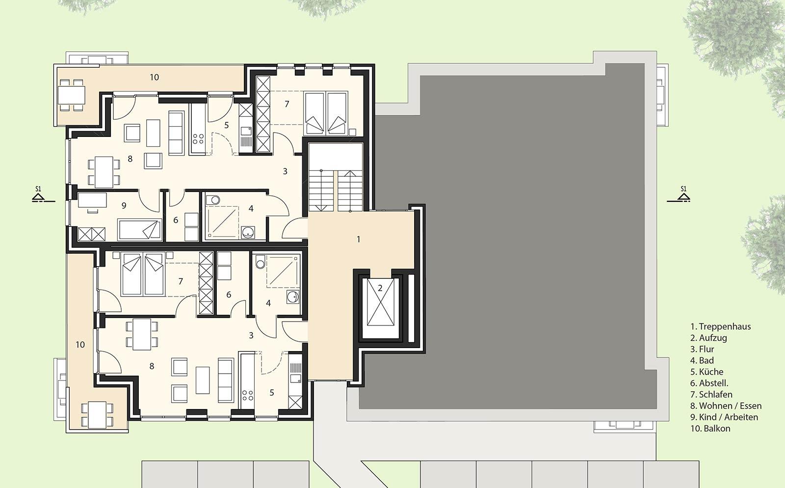 Treppenhaus grundriss mehrfamilienhaus  Mehrfamilienhaus Wilhelmshaven | Kapels Architekten